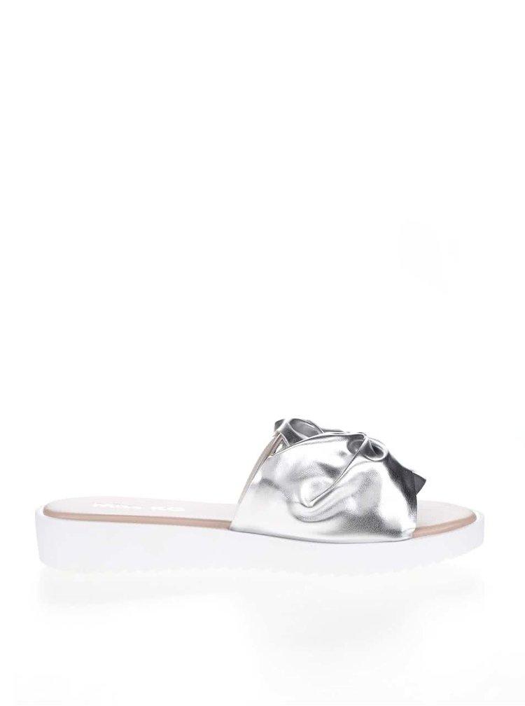 Papuci argintii Miss KG