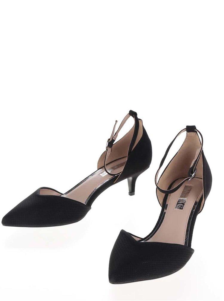 Pantofi negri decupati Miss KG cu toc kitten