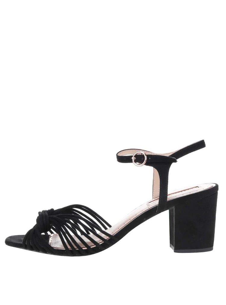 Černé sametové sandálky Miss KG