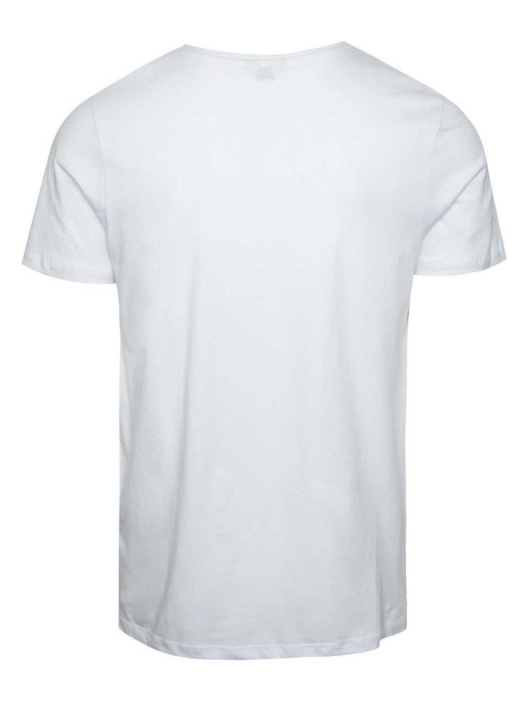 Bílé triko s potiskem Jack & Jones Cita