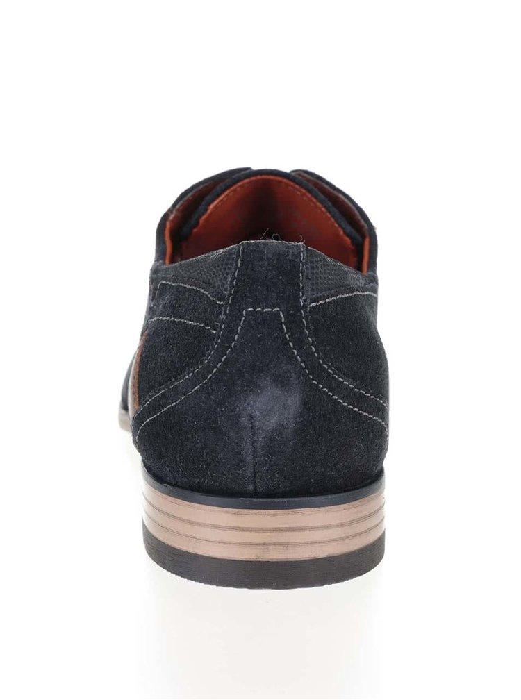 Pantofi negri bugatti Refito din piele întoarsă