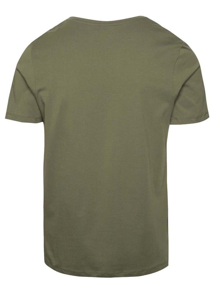 Světle zelené triko s potiskem Jack & Jones Cita