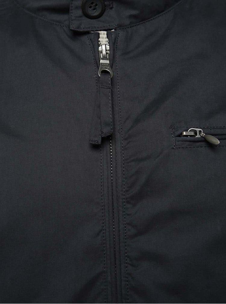 Jachetă bleumarin Jack & Jones Harris cu guler înalt