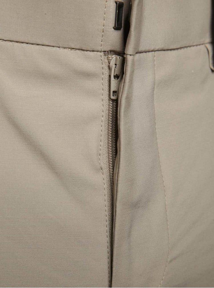 Béžové úzké kalhoty Jack & Jones Corban