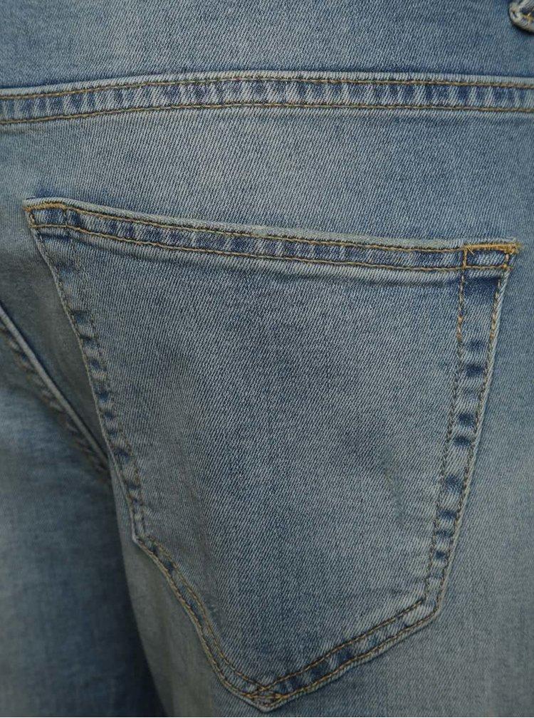 Blugi albastru deschis ONLY & SONS Loom slim fit cu aspect uzat