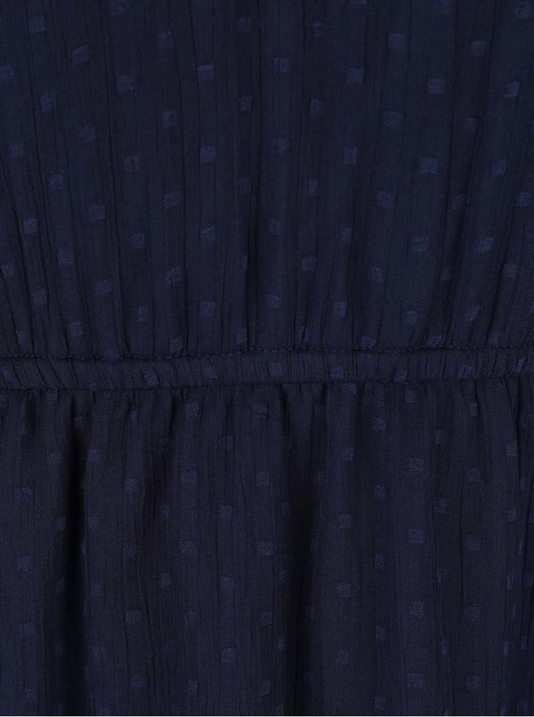 Tmavě modré šaty s průstřihem na zádech VERO MODA Bianca