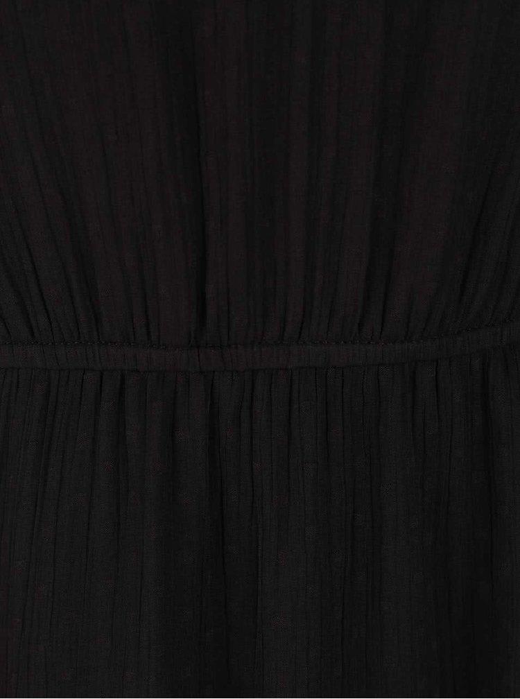 Rochie neagră VERO MODA Bianca cu model discret