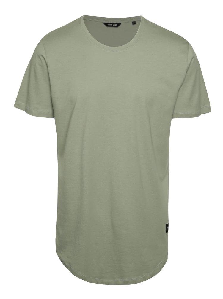 Tricou verde deschis ONLY & SONS Matt din bumbac