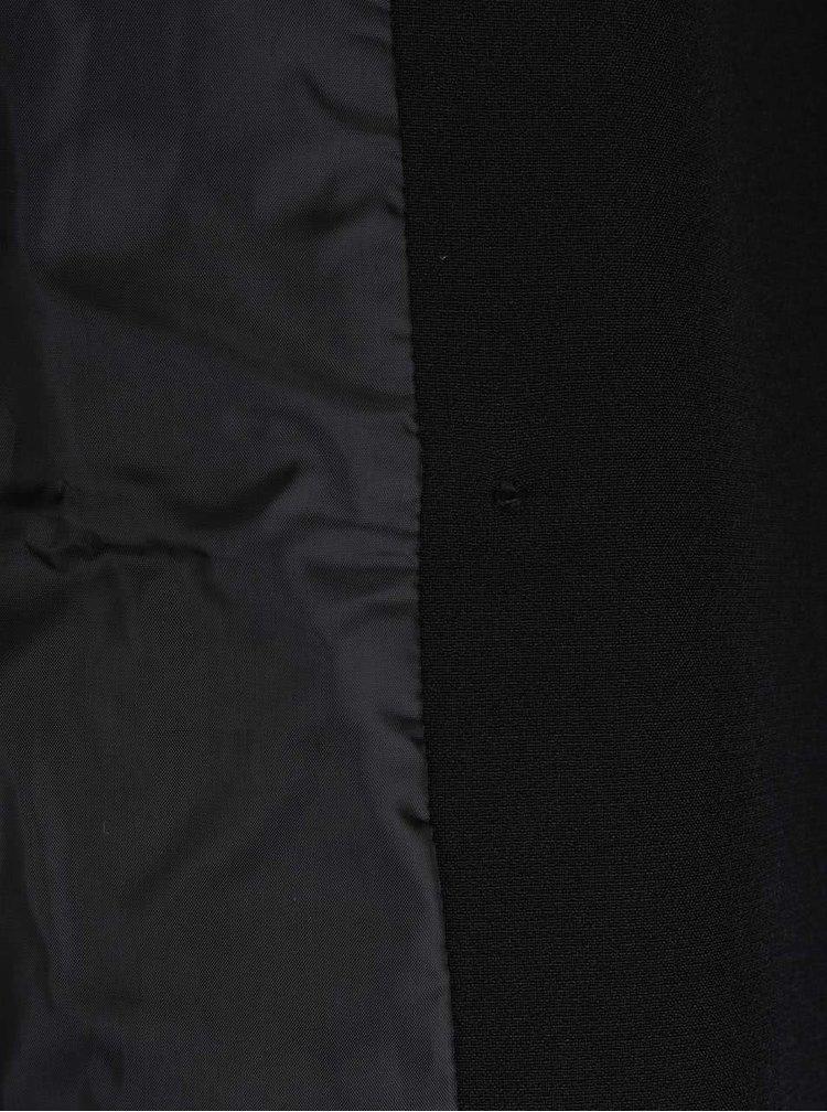 Palton negru VERO MODA Rose cu curea în talie