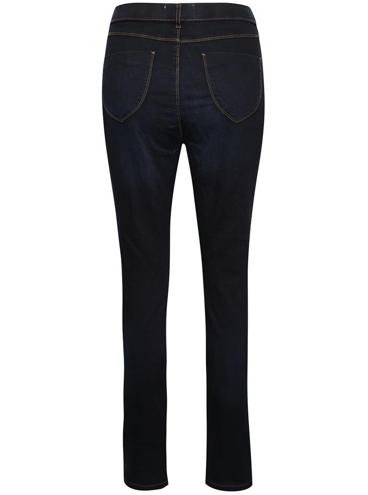 Pantaloni albastru inchis Dorothy Perkins cu aspect de denim