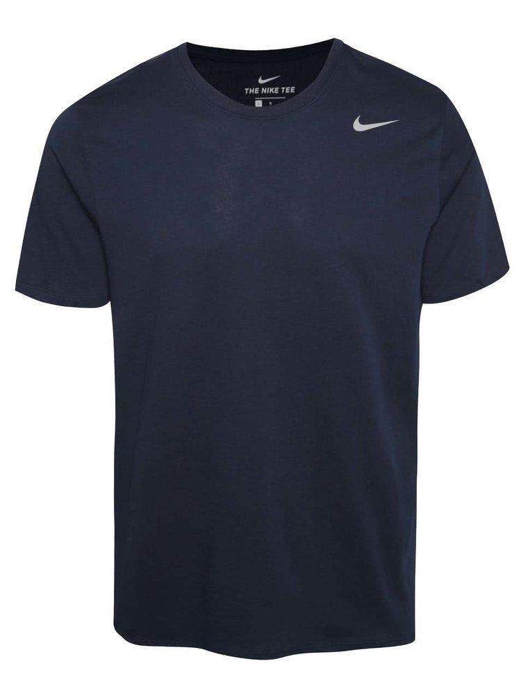 Tmavě modré pánské funkční tričko Nike