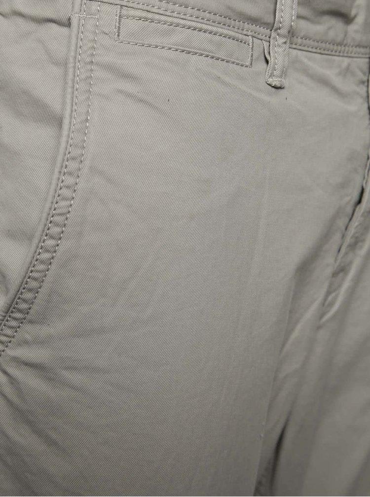 Světle šedé pánské chino kalhoty Superdry