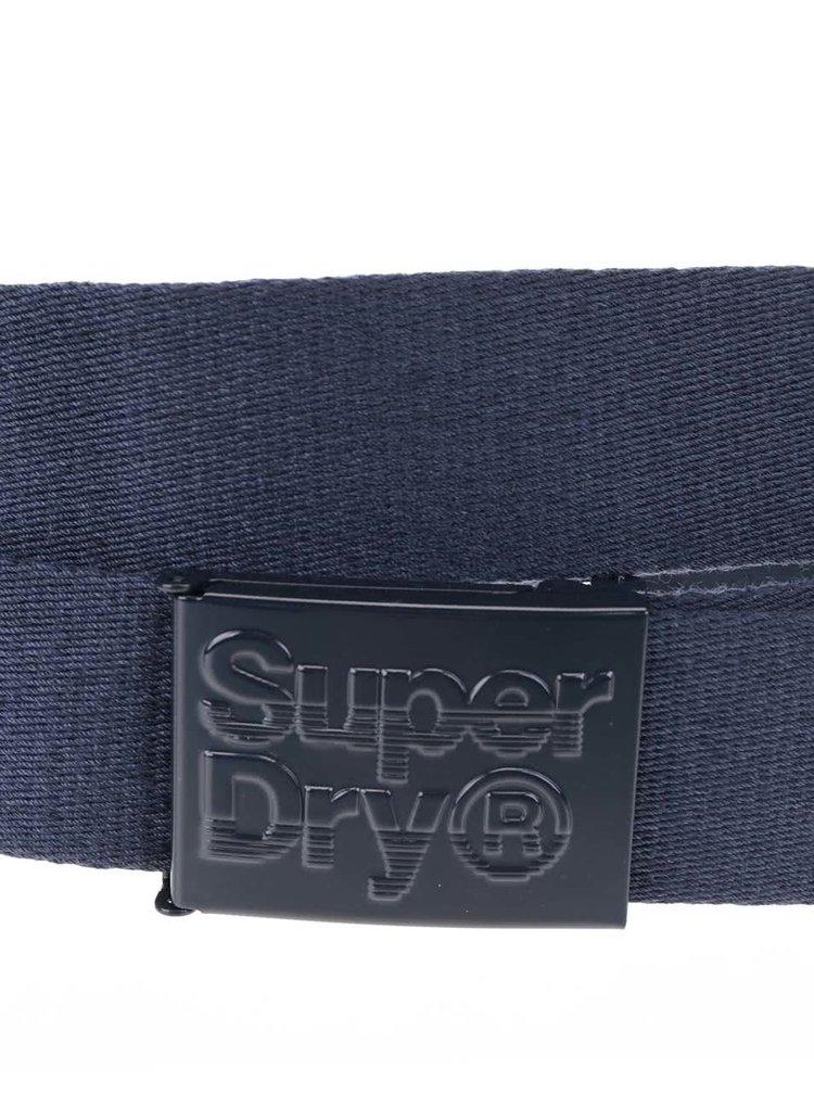 Tmavě modrý pánský pásek Superdry
