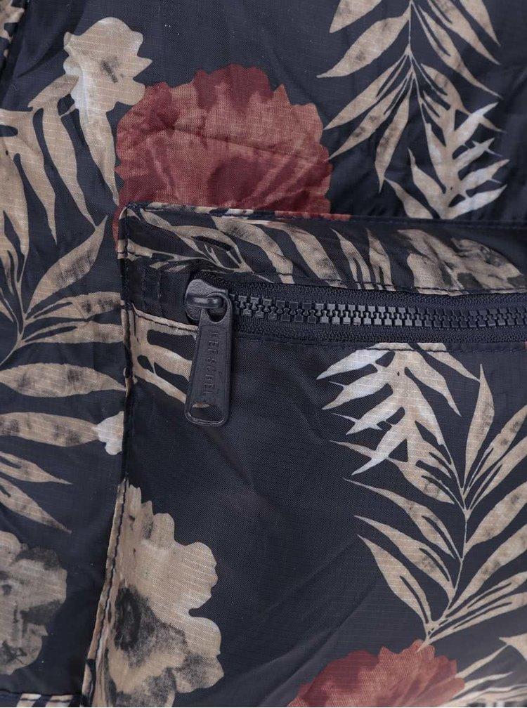 Tmavě modrý dámský batoh s květovaným vzorem Herschel Packable 24,5 l