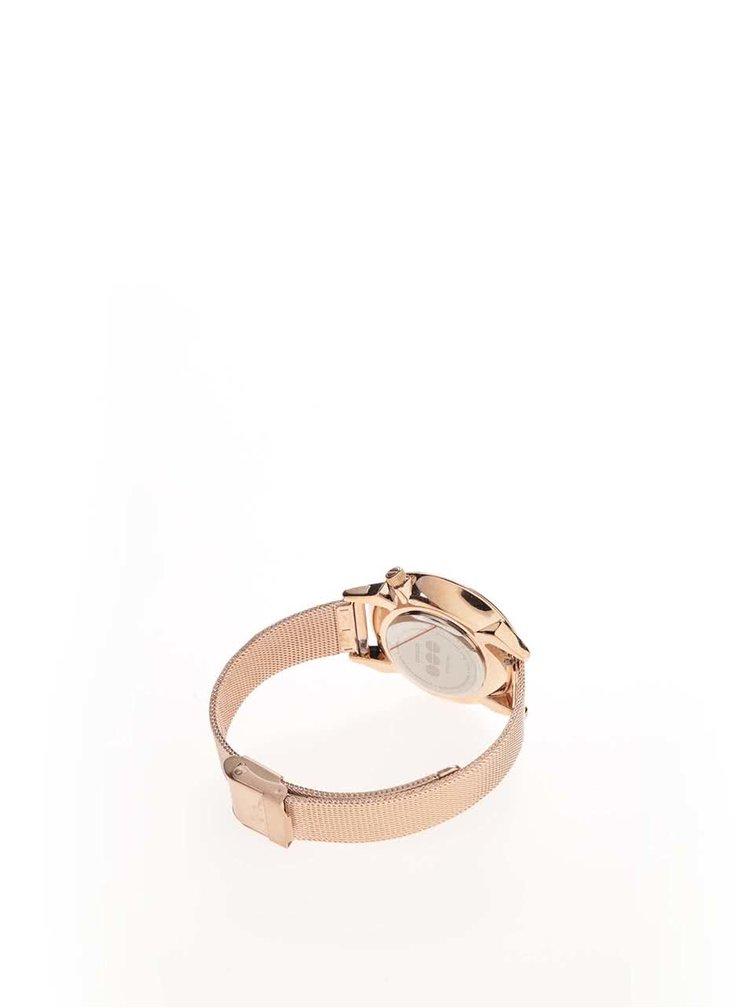 Dámské hodinky v barvě růžového zlata, s kovovým páskem Komono Estelle Royale