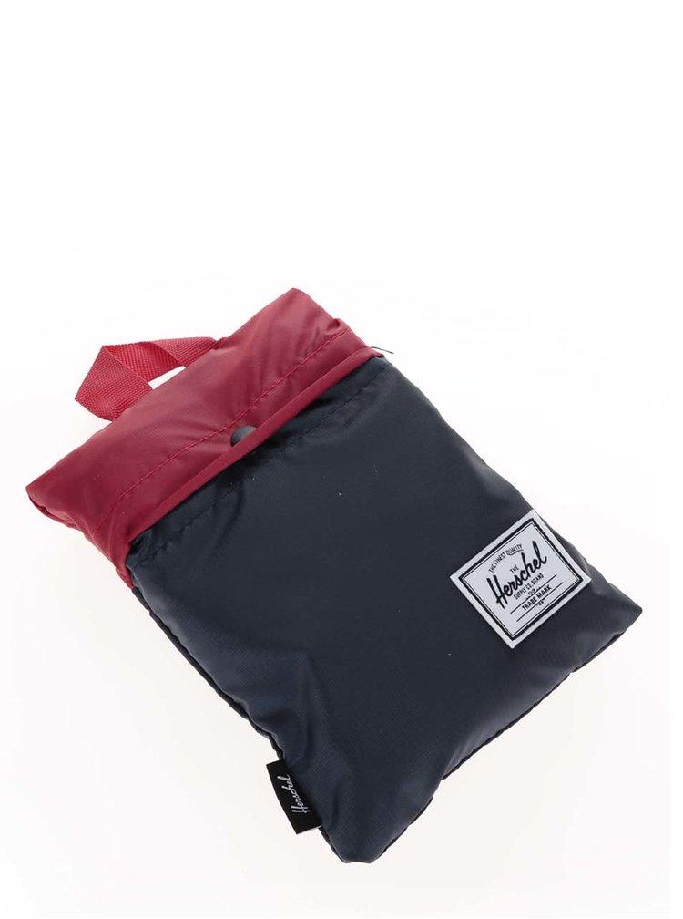 Geantă roșu cu albastru Herschel Packable Travel Tote 16 l