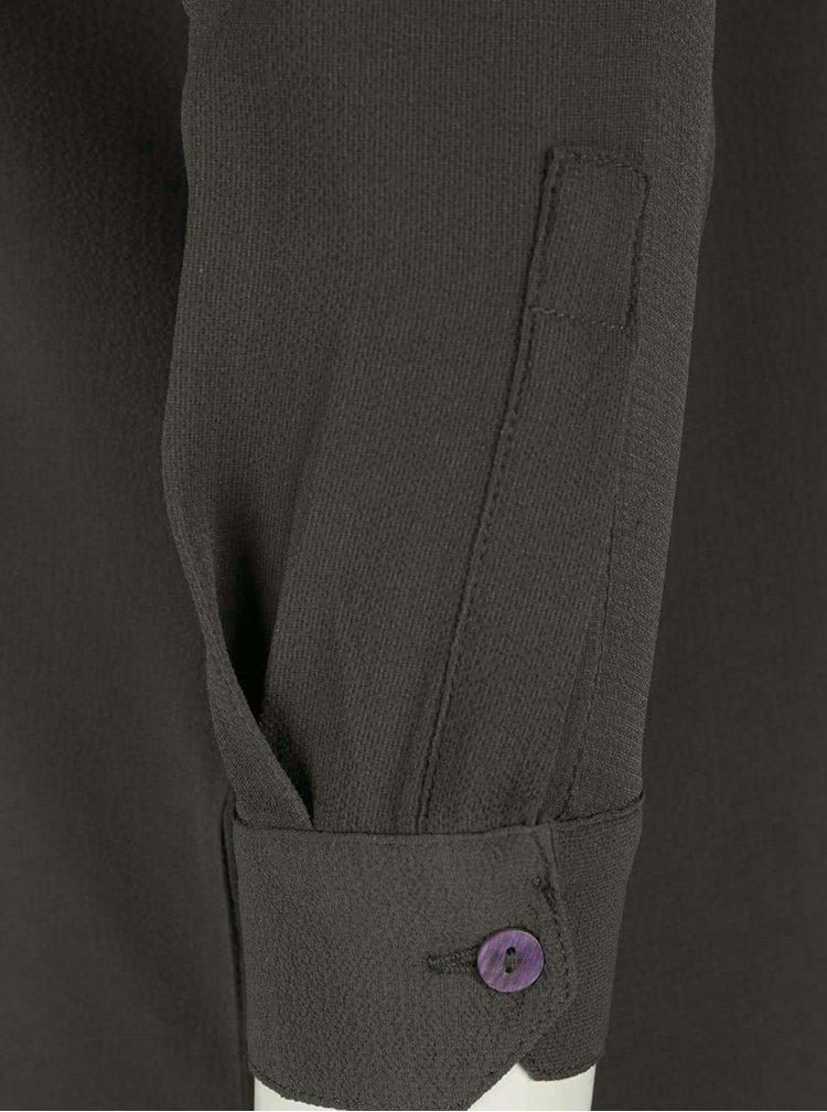 Khaki halenka s dlouhými rukávy Jacqueline de Yong Track