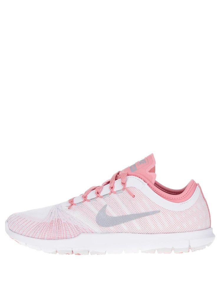 Pantofi sport alb & roz Nike Flex Adapt Premium cu model pentru femei
