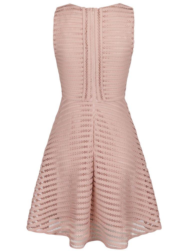 Starorůžové perforované šaty Ax Paris