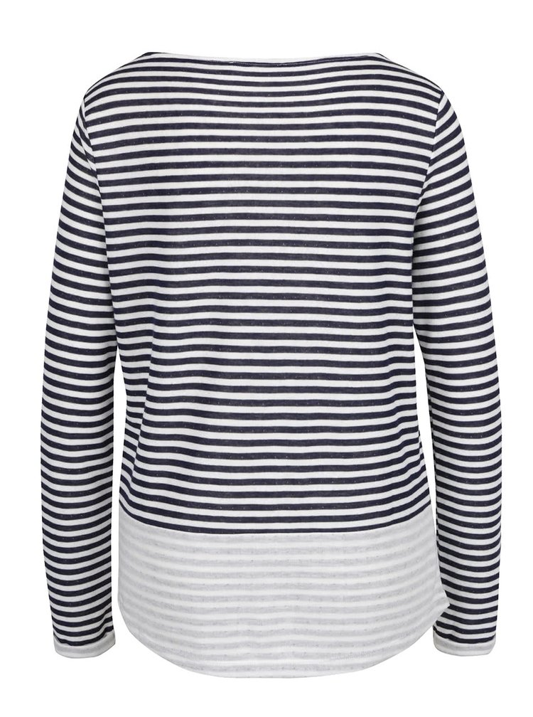 Tmavě modré dámské pruhované tričko s.Oliver