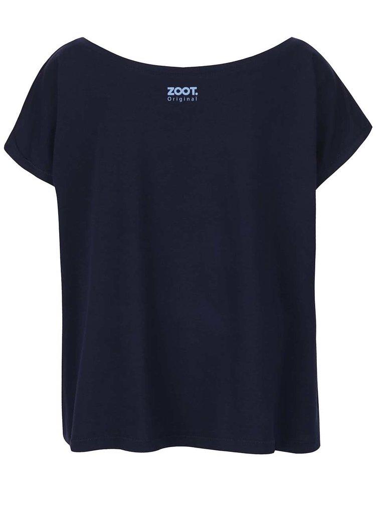 Tmavě modré dámské tričko ZOOT Originál Svět patří těm, co se neposerou