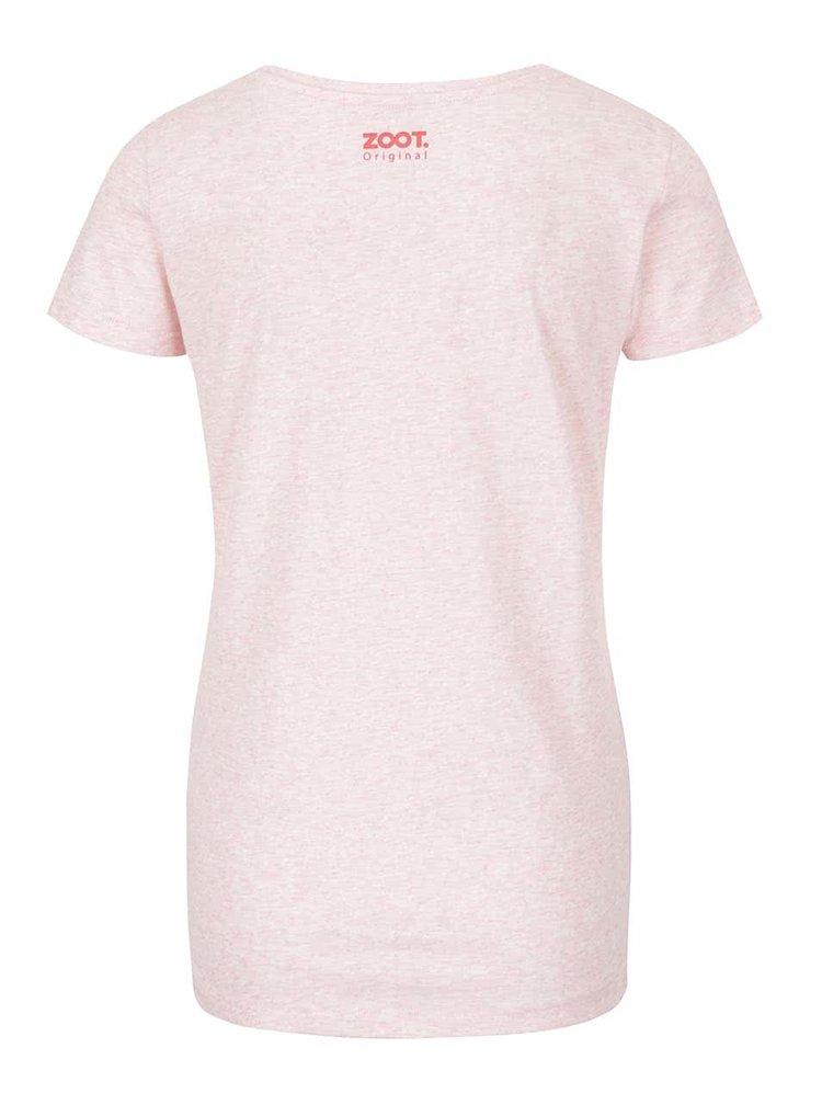 Růžové žíhané dámské tričko ZOOT Originál Motivace