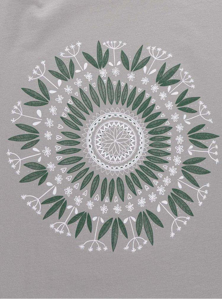 Šedé dámské tričko ZOOT Originál Mandala