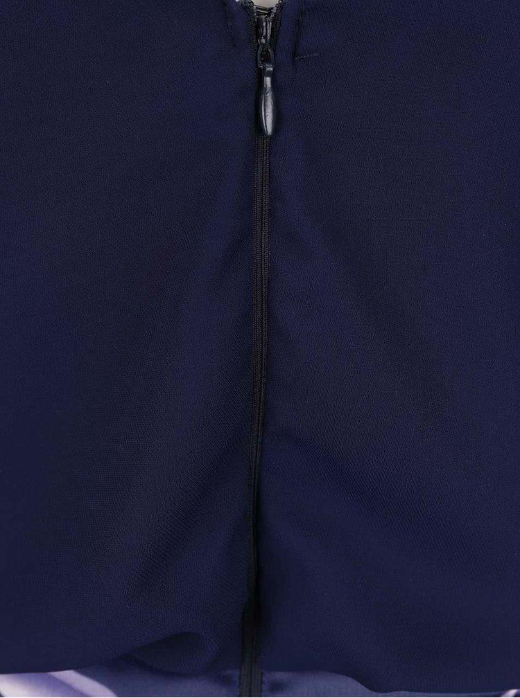 Rochie mini bleumarin Ax Paris cu aspect 2în1 și imprimeu floral