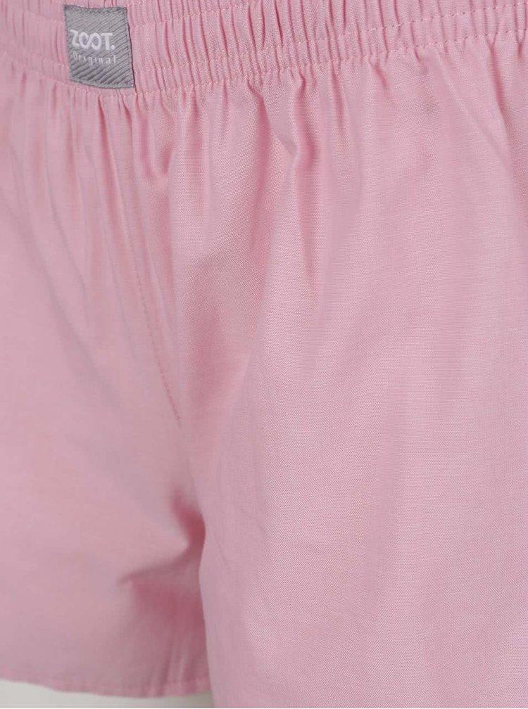 Pijamale alb & roz ZOOT Original Unicorns Are Real din bumbac cu print