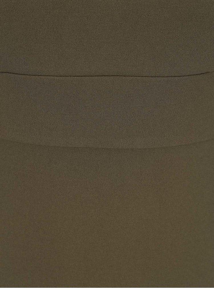 Khaki pouzdrové minišaty s ramínky Ax Paris