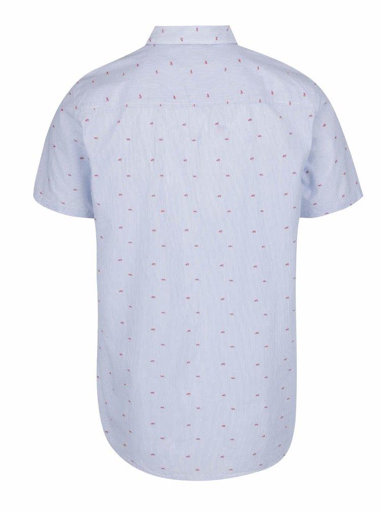 Světle modrá vzorovaná košile s krátkým rukávem Jack & Jones Shark