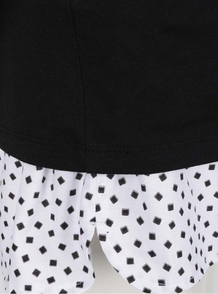 Bílo-černé dámské pyžamo ZOOT Originál Life begins after coffee