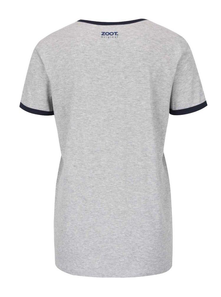 Šedé dámské tričko ZOOT Originál Always be nice