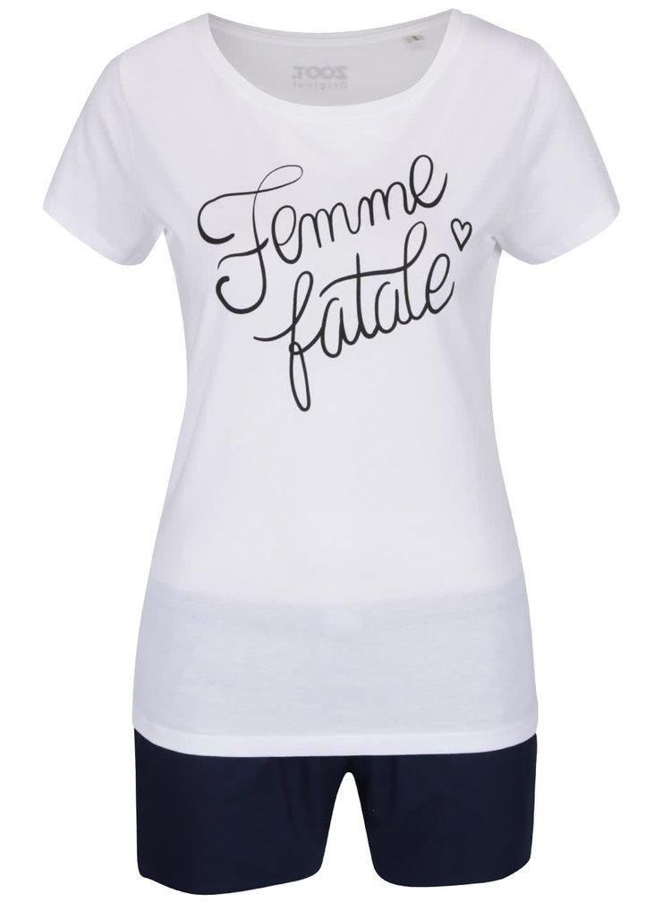 Bílo-modré dámské pyžamo ZOOT Originál Femme fatale