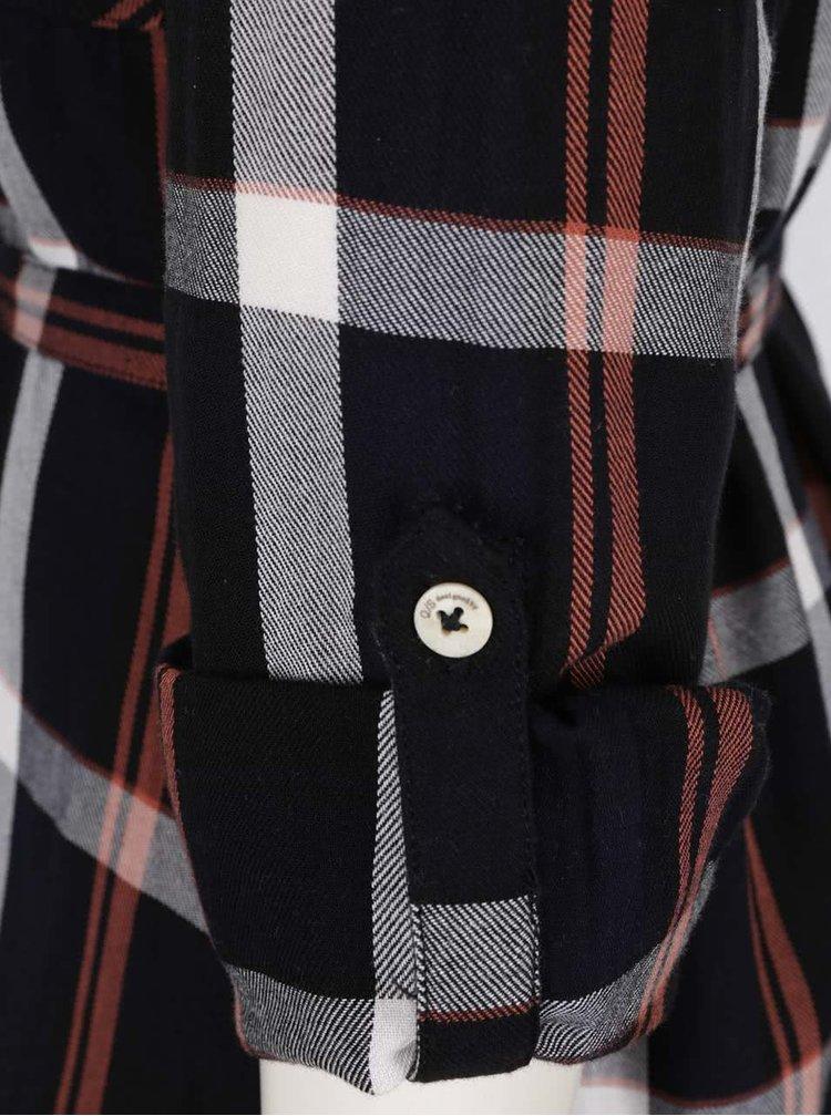 Černé kostkované košilové šaty QS  by s. Oliver