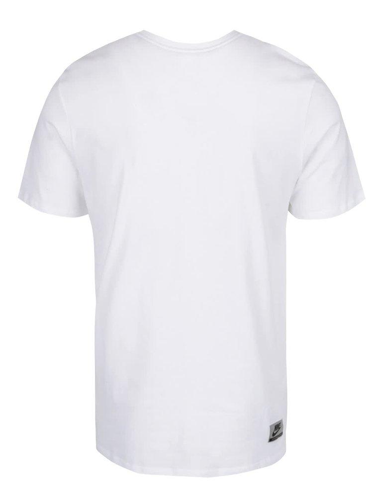 Tricou alb Nike din bumbac cu print
