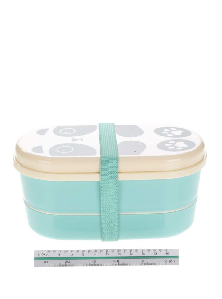 Tyrkysový box na jídlo s potiskem Sass & Belle Aiko Panda Kawaii