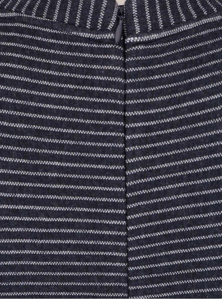 Tmavě modré pruhované šaty s.Oliver
