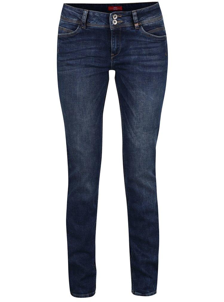 Modré dámské slim fit džíny s.Oliver