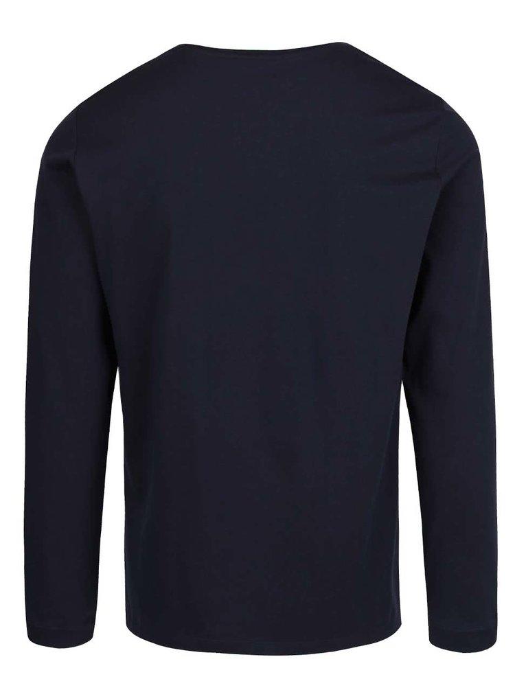 Tmavě modré pánské triko s dlouhým rukávem s.Oliver