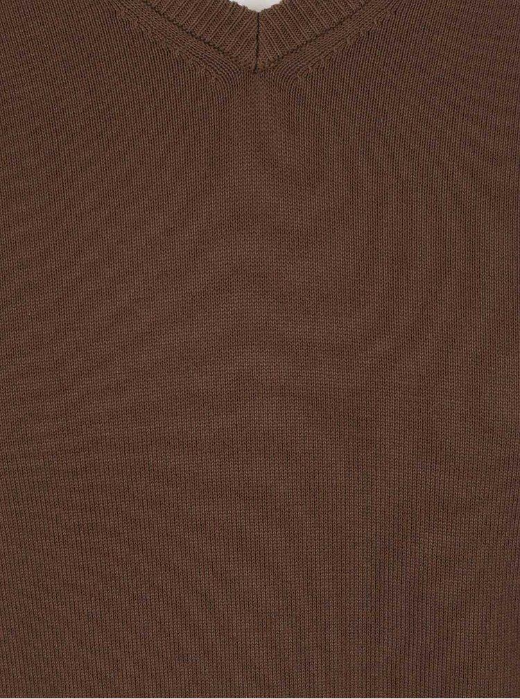 Hnědý pánský svetr bugatti