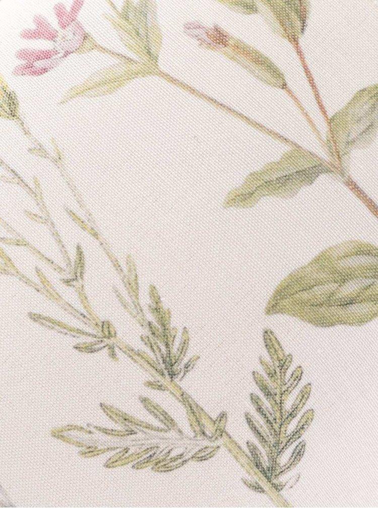 Pernă bej Sass&Belle cu imprimeu floral