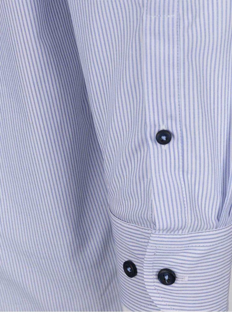 Bílo-modrá pruhovaná pánská košile bugatti