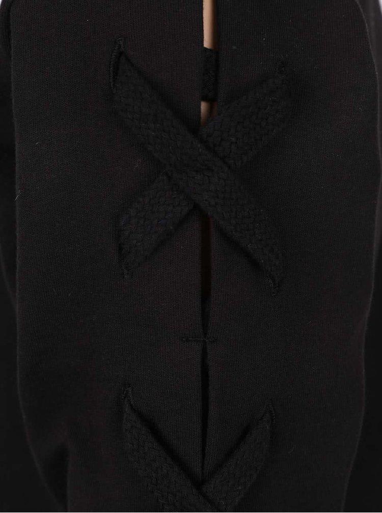 Černá mikina s detaily na rukávech LIMITED by name it Toise