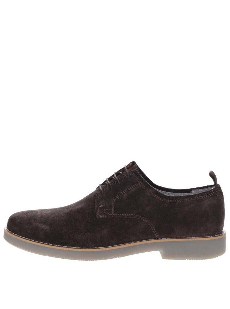 Pantofi maro Vagabond Belgrano din piele intoarsa
