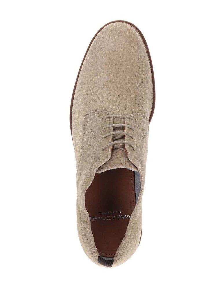 Pantofi bej Vagabond Belgrano din piele intoarsa pentru barbati