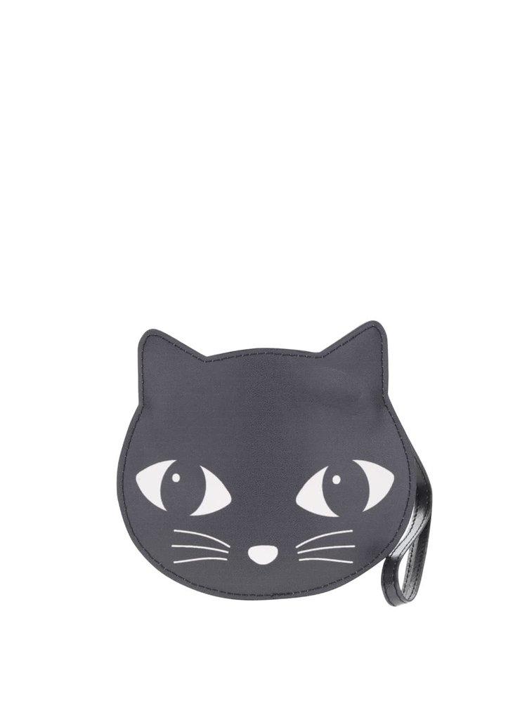 Černá peněženka ve tvaru kočičky Sass & Belle