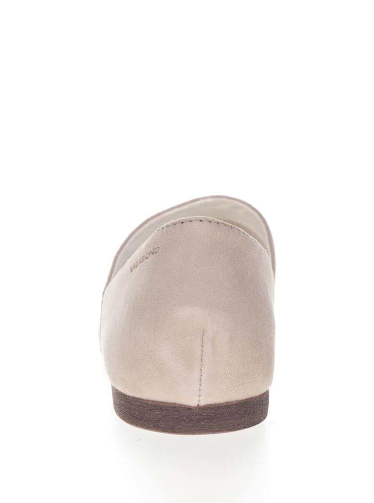 Pantofi bej Vagabond Ayden din piele întoarsă