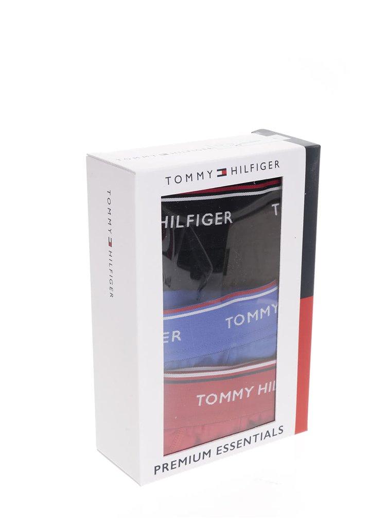 Sada tří slipů v modré, červené a černé barvě Tommy Hilfiger
