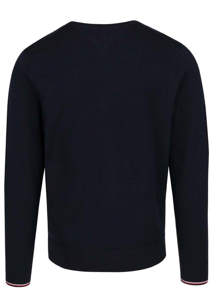 Tmavě modrý pánský svetr Tommy Hilfiger